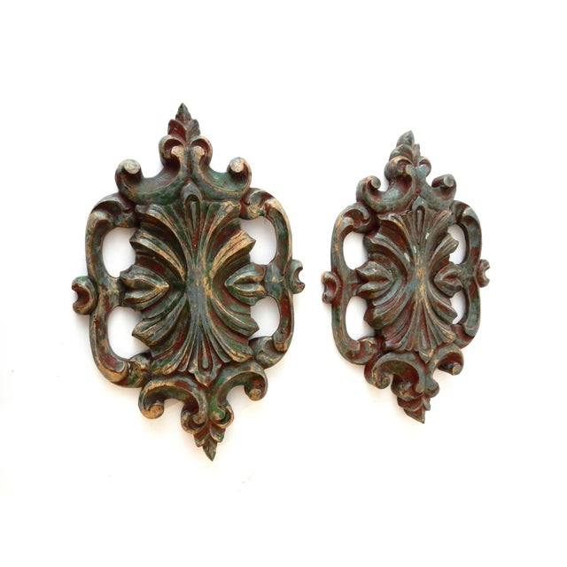 Italian Baroque-Style Wall Hangings - A Pair - Image 3 of 4
