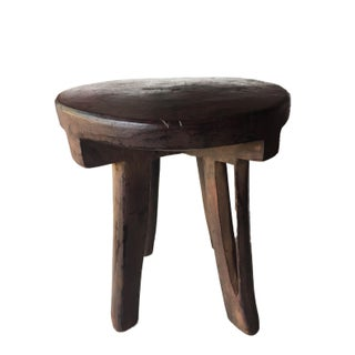 Carved Wooden Makonde 4-Legged Stool Preview