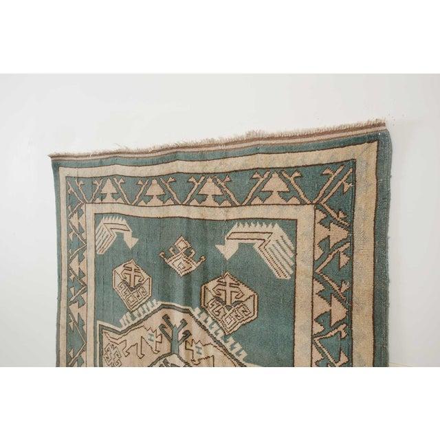 Blue Vintage Erdemir Turkish Wool Rug - 5′9″ × 8′ For Sale - Image 8 of 9