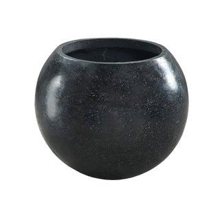 Black Terrazzo Stone Pot For Sale