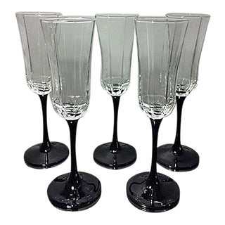Vintage Luminarc France Champagne Flutes - Set of 5