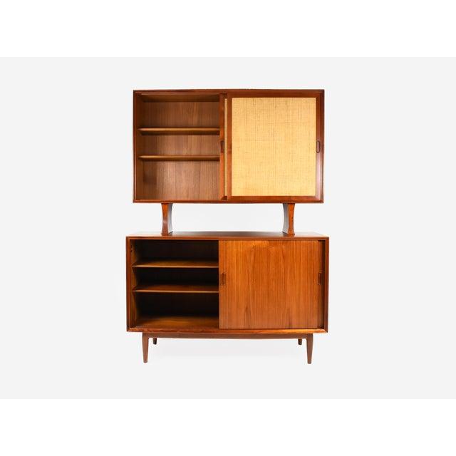 Mid-Century Modern 1950s Danish Modern Arne Vodder for Sibast Teak Sideboard Hutch For Sale - Image 3 of 13