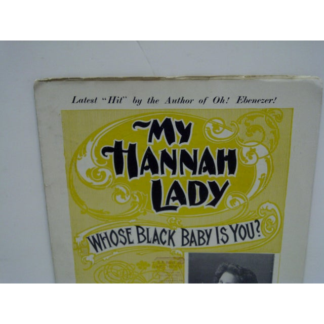 "Vintage ""My Hannah Lady"" Sheet Music For Sale - Image 4 of 7"