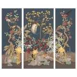Image of Pheasants and Forest Triptych For Sale