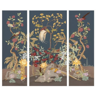 Pheasants and Forest Triptych