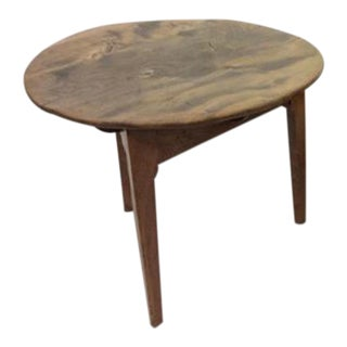 Rustic Round Side Table For Sale