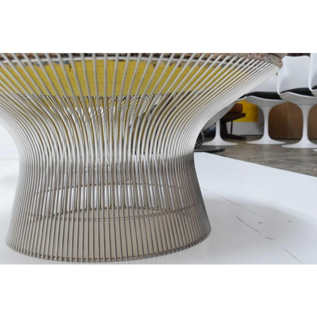 Knoll 1970s Vintage Warren Platner Nickel Stools - a Pair For Sale - Image 4 of 8
