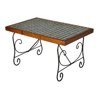 1960s Tile Top & Metal Base Coffee Table For Sale