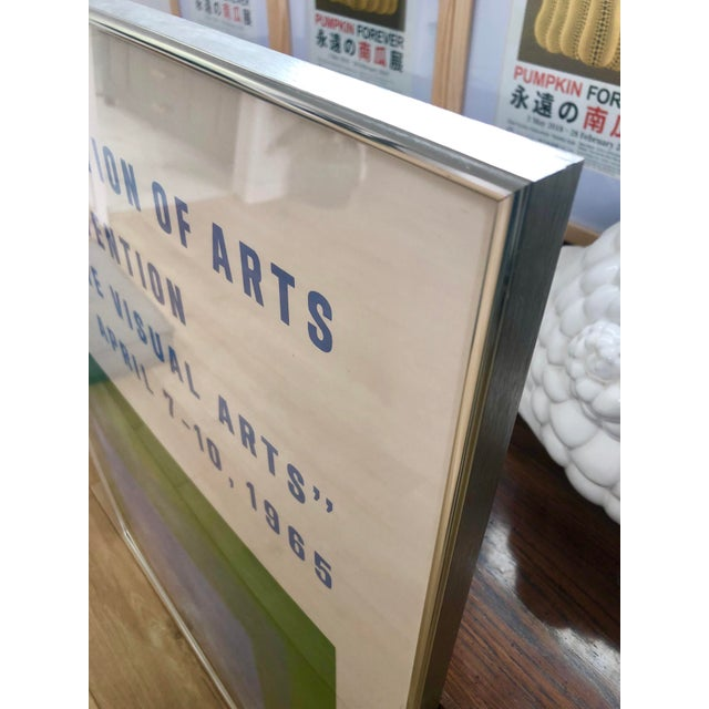 1965 Vintage Josef Albers Homage to the Square American Federation of Arts Framed Poster For Sale In Los Angeles - Image 6 of 11