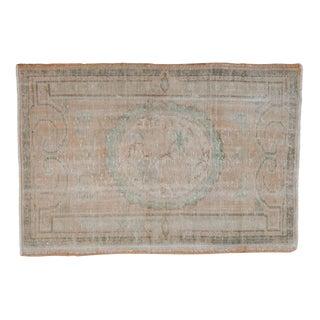 "Vintage Distressed Oushak Square Rug - 2'10"" X 4'2"" For Sale"