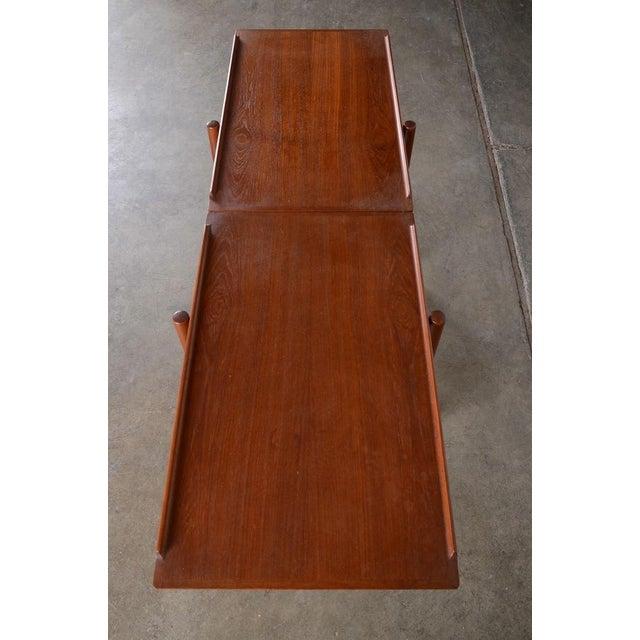 Poul Hundevad Danish Modern Teak Bar Cart - Image 5 of 6