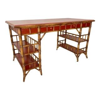 Vintage Milling Road Bamboo Writing Desk For Sale