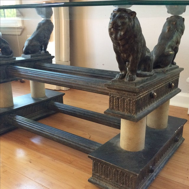 Lion Base Coffee Table For Sale - Image 4 of 8