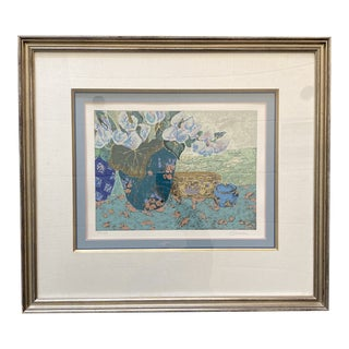 Late 20th Century Contemporary Still Life Lithograph by Ellen Gunn, Framed For Sale