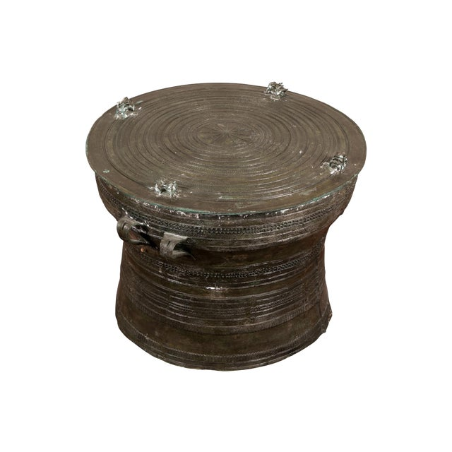 South Asian Bronze Rain Drum Table For Sale