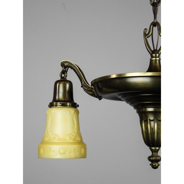 Antique Sheffield Light Fixture (3-Light) For Sale In Washington DC - Image 6 of 10