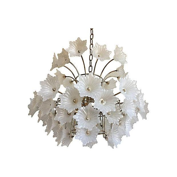 Flower Blossoms Chandelier - Image 4 of 9