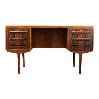 Danish Rosewood Executive Desk by J. Svenstrup For Sale