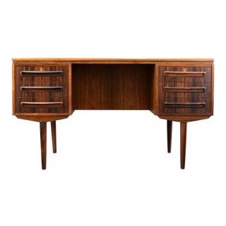 Danish Rosewood Executive Desk by J. Svenstrup For Sale