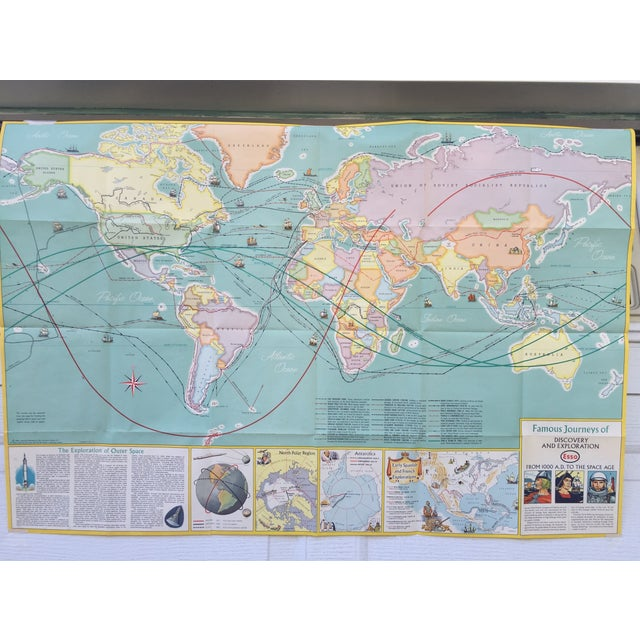 Vintage Map Journeys of Discovery and Exploration - Image 2 of 9