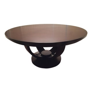 "Custom 62"" Round Wood Dining Table For Sale"