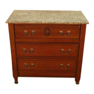 Traditional Harden Solid Cherry Marble Top Server For Sale