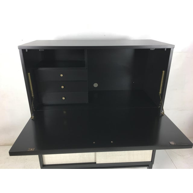 Brass Paul McCobb Planner Group Secretaire For Sale - Image 7 of 9