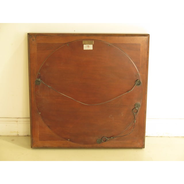 Theodore Alexander Square Walnut Mirror For Sale - Image 5 of 7