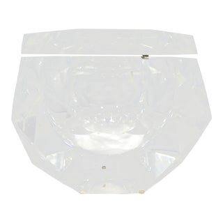 Vintage Enormous Alessandro Albrizzi Lucite Ice Bucket For Sale