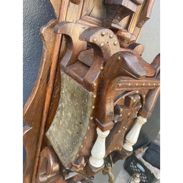 19th C. European Folk Art Sculpture /Dispenser For Sale - Image 9 of 13