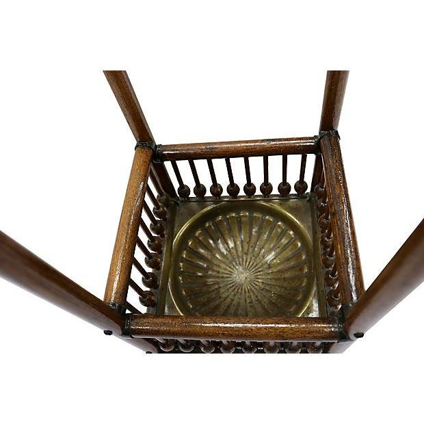 Antique Oak Umbrella Stand For Sale In Los Angeles - Image 6 of 6
