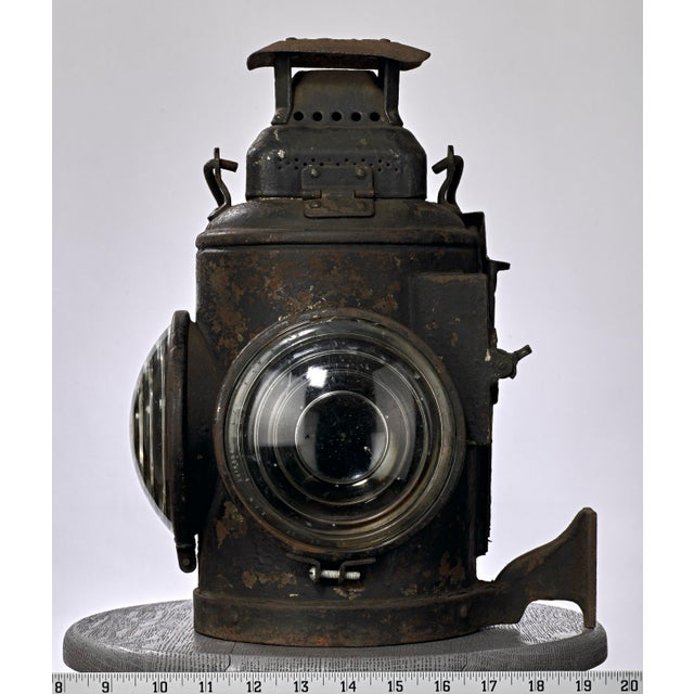 Industrial 19th Century Industrial Adlake Rare Railroad Switching Light/Lantern For Sale - Image 3 of 13