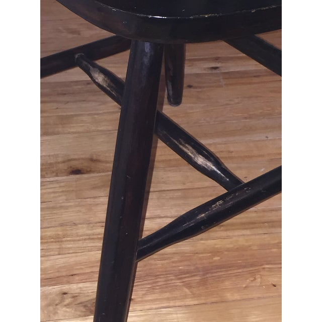 Edmund Spence Style Ebony High Comb Spindle Windsor Chairs - Set of 3 For Sale - Image 11 of 13
