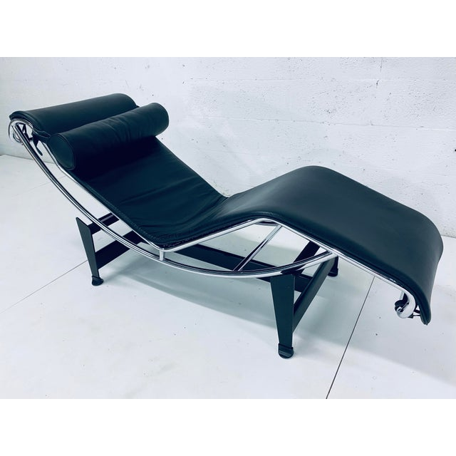 Bauhaus Lc4 Le Corbusier Chaise Lounge for Cassina For Sale - Image 3 of 12