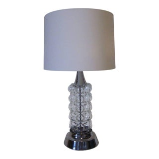 Hand Blown Glass Bubble Table Lamp For Sale