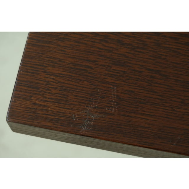 Stickley Mission Oak Mousehole Dining Room Table For Sale - Image 12 of 13