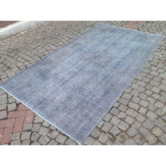 "Turkish Overdyed Patchwork Rug - 5' x 9'1"" For Sale - Image 5 of 6"