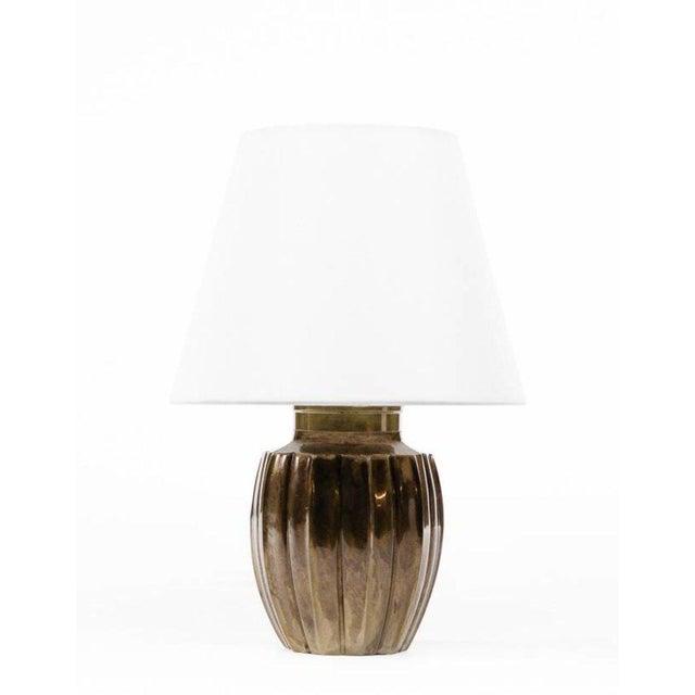 Lawrence & Scott Ocha Table Lamp in Brass For Sale In Seattle - Image 6 of 6