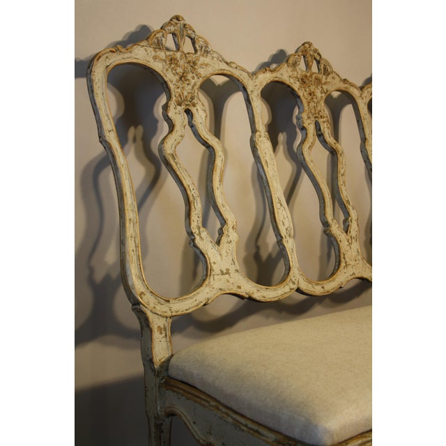 Mid 19th Century 19th C Portuguese Carved Wood Bench For Sale - Image 5 of 11
