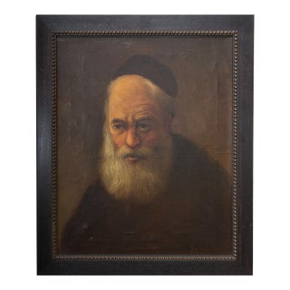 Oil Painting of a Religious Figure in Regalia For Sale