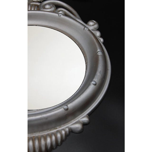 Federal Mid-20th Century Vintage Federal Eagle Convex Wall Mirror For Sale - Image 3 of 6