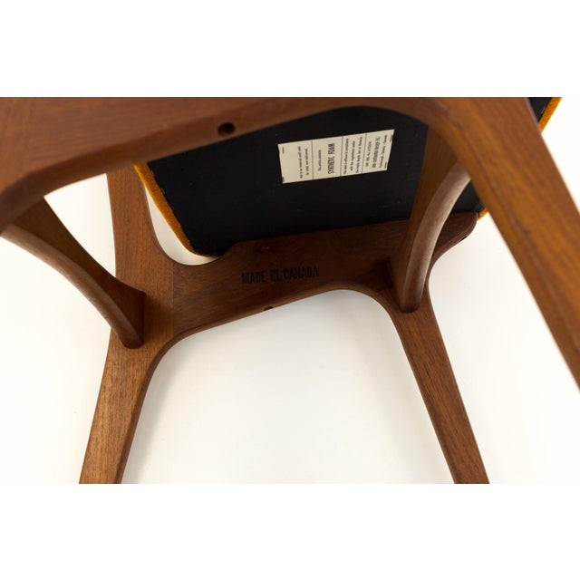 Vintage Mid Century Teak Bow Tie Ladderback Dining Chairs- Set of 6 For Sale - Image 11 of 12