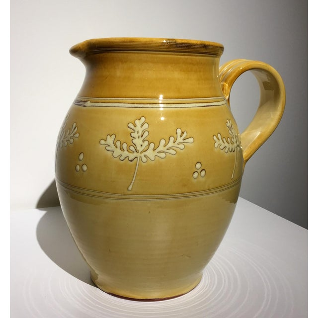 French Pottery Leaf Pitcher - Image 3 of 7