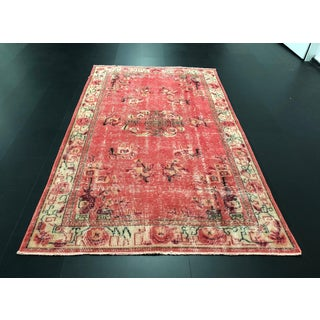 1970s Vintage Turkish Aztec Inspired Handwoven Rug - 4′9″ × 8′ Preview