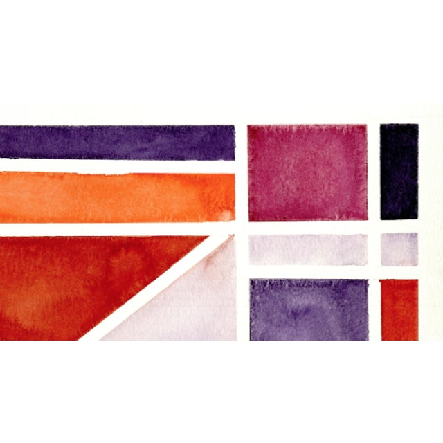 2010s Abstract Watercolor Original Art - 11 In. X 15 In For Sale - Image 5 of 7