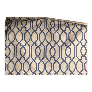 Blue Geometric Pattern Fabric