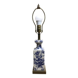 Vintage Shabby Chic Transferware Accent Lamp For Sale