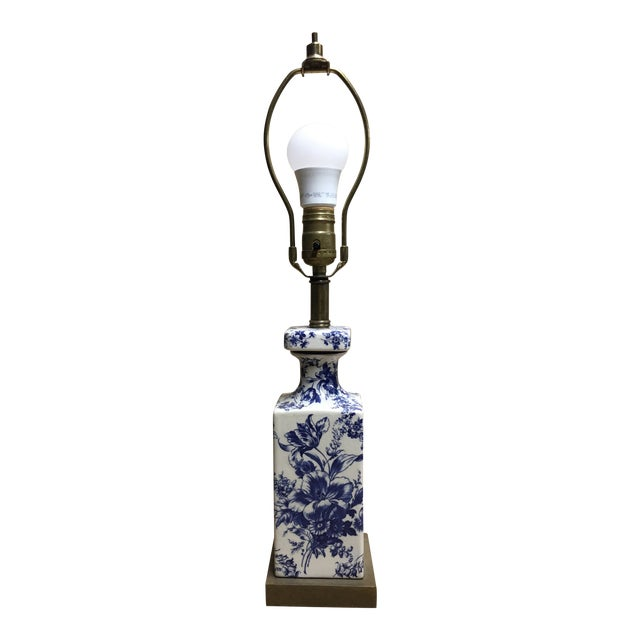 Vintage Shabby Chic Transferware Accent Lamp