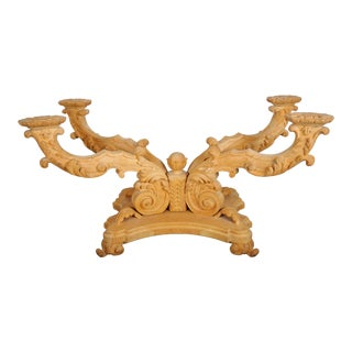 Victorian Style Maple Handcarved Dining Table Base For Sale