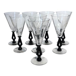 Art Deco 1940s Wine Glasses For Sale